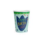 8 Paper Cups Dino-Mite Paper  250 ml