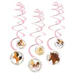 6 Swirl Decoration Beautiful Horses