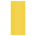 25 Small Plastic Party Bags Sunshine Yellow 24 x 10 cm