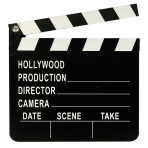 Director's Clapboard Hollywood Plastic 17.8 x 20.3 cm