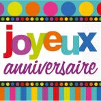 16 Napkins Dots and Stripes Joyeux Anniversaire 33 x 33 cm