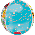 "Orbz ""Fun in the Sun Cute Characters"" Foil Balloon Clear, G20, packed, 38 x 40cm"