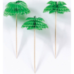 12 Picks Palm Tree Honeycombs Wood 10.1 cm