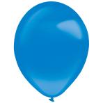 "50 Latex Balloons Decorator Crystal Bright Royal Blue 35 cm / 14"""