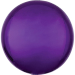 "Orbz Purple Foil Balloon G20 Packaged 15""/38cm w x 16""/40cm"