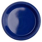 10 Plates Plastic Navy Flag Blue 17.7 cm