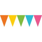 Pennant Banner Multicoloured Paper 457 x 17.7 cm
