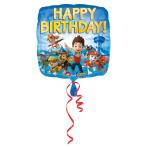 Standard Paw Patrol Happy Birthday Foil Balloon S60 Packaged43 cm
