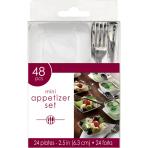 48 Mini Appetizer Set Plastic