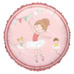 "Standard ""Little Dancer"" Foil Balloon Round, S40, packed, 43 cm"