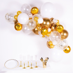 Latex Balloon Garland DIY White / Gold Assorted 4 m 66 Parts