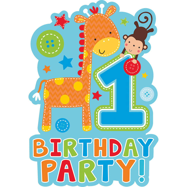 Открытка приглашения на 1 год, днем рождения