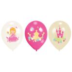 "6 Latex Balloons Princess 27.5 cm/11"""