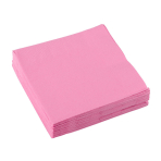 20 Beverage Napkins New Pink 25 x 25 cm