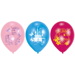 "6 Latex balloons Unicorn 22.8 cm/9"""