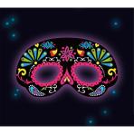 Glow Stick Mask Black Ornamental Plastic 19 x 11 cm