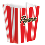 8 Popcorn Boxes Hollywood Paper 9.5 x 13.3 x 3.8 cm