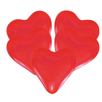 25 Latex Balloons Hearts Red 30.4 cm / 12""