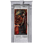 Door Deco Creepy Carnevil Side Show Plastic 165 x 85 cm