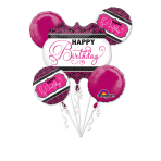 "Bouquet ""Pink, Black, White Birthday"" Foil Balloon,   P75, packed"