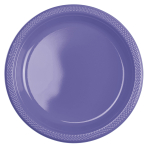 20 Plates New Purple Plastic Round 22.8 cm