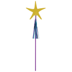 6 Wands Mermaid Wishes Starfish Paper / Plastic / Foil 45.5 cm