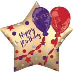 Multi-balloon EZ-Fill Satin Birthday Balloons Foil Balloon P60 packaged