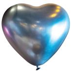 "50 Latex Balloons Decorator Heart Satin Luxe Platinum 30 cm / 12"""
