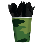 8 Cups Camouflage Paper 266 ml