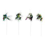 4 Mini Figurine Candles Teenage Mutant Ninja Turtles