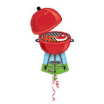 SuperShape Red Grill Foil Balloon P35 Packaged 58 x 91 cm