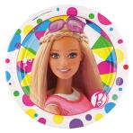 8 Plates Barbie Sparkle Paper  17.7 cm