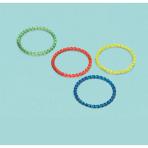 4 Bracelets Glitter Plastic Assorted 6.2 x 6.2 cm