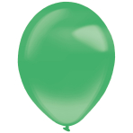 50 Latex Balloons Decorator Crystal Festive Green 35 cm / 14