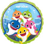 Standard Foil Balloon Baby Shark S60, packaged