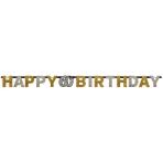 Letter Banner 60 Sparkling Celebration Gold Foil 213 x 16.2 cm