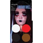 Aqua Kit Voodoo Doll (4 x Face Paint 3.5 g / 1 Brush)