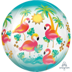 "Orbz ""Let's Flamingle"" Foil Balloon, G20, packed, 38 x 40cm"