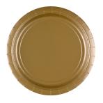8 Plates Gold Paper Round 22.8 cm