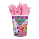 8 Cups Pink Paw Patrol  Paper 250 ml
