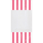 10 Party Bags Stripes New Pink Plastic 24.8 x 12.8 cm