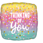 Standard Thinking of You Pastel Dots Foil Balloon S40 packaged