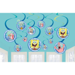 12 Swirl Decorations SpongeBob