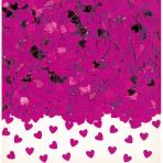 Confetti Sparkle Hearts Hot Pink Foil 14 g