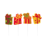 8 Mini Figurine Candles Happy Birthday