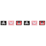 Flag Banner Pirates Treasure 365 x 25.4 cm