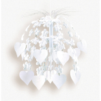 Cascade Hanging Decoration Flowers & Hearts White 70 cm
