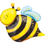 Mini Shape Happy Bee Foil Balloon A30 Bulk