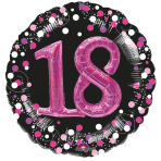 Multi Balloon Sparkling Pink 18 Foil Balloon P75 Packaged 81 x 81 cm
