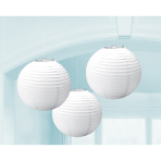 3 Lanterns Frosty White Paper 20.4 cm